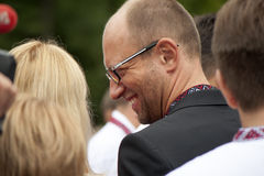 Arseniij Yatseniuk at a rally Royalty Free Stock Image