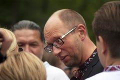Arseniij Yatseniuk at a rally Royalty Free Stock Images