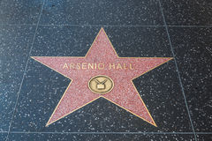 Arsenio Hall Hollywood Star fotografie stock libere da diritti