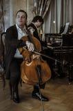 Arseniy Chubachin wydźwignięcia gwiazdy wiolonczela Russia Obrazy Royalty Free