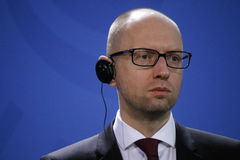 Arseniy Yatsenyuk (Arsenij Jazenjuk) Στοκ Εικόνα