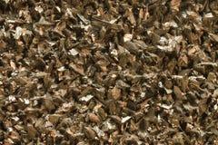 Arsenopyritemineraal met kristallijne structuur en metaalglans Stock Fotografie