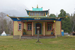 Arshan, Ru 5月, 02 2014年:Hoymorsky datsan Bodhidharma -佛教寺庙修道院在Arshan村庄在布里亚特共和国 免版税图库摄影