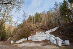 Arshan alle montagne di Sayan in Buriatya, Siberia - Russia Fotografia Stock