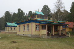 Arshan, 02 RU-Μαΐου, 2014: Hoymorsky datsan Bodhidharma - βουδιστικό μοναστήρι ναών στο χωριό Arshan Buryatia Στοκ εικόνα με δικαίωμα ελεύθερης χρήσης