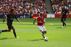 Arshavin in Emirates Cup '10 royalty free stock images