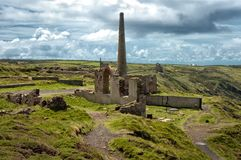 Arsinic Works at Botallack Mines. The Botallack Mine (Cornish: Bostalek) is a former mine in Botallack in west Cornwall, ... There are two arsenic works opposite Stock Photography