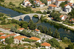 The Arslanagic Bridge from above, Trebinje, Bosnia Stock Photography