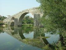 Arslanagica桥梁在特雷比涅 库存图片