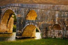 Arslanagica bro Arkivbild