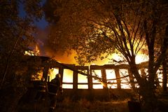 Arson Stock Image