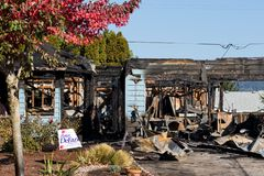 Arson Gunman Incident in Springfield Oregon October 27 stock image