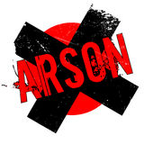 Arson rubber stamp. Grunge design with dust scratches. Effects can be easily removed for a clean, crisp look. Color is easily changed Royalty Free Stock Image