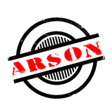 Arson rubber stamp. Grunge design with dust scratches. Effects can be easily removed for a clean, crisp look. Color is easily changed Stock Images