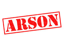 ARSON Rubber Stamp stock photos