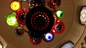 Arstract colorful chandelier rotation stock video