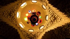 Arstract colorful chandelier rotation stock video footage
