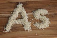 Arszenik (Jak) w ryż zdjęcia stock