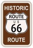 Artère historique 66 Image stock