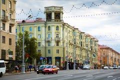 Artère principale de transport de Minsk images libres de droits