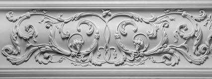 Artículo de la decoración hecho del yeso blanco fotos de archivo