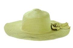 Artículo de mimbre, señora del sombrero Foto de archivo libre de regalías
