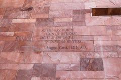 Artículo del texto de Magna Carta imagen de archivo