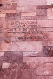 Artículo del texto de Magna Carta Foto de archivo libre de regalías