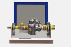 Artículo regulador del armario con el gas de dos reductores Fotografía de archivo