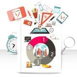 Artículos creativos de Infographic Imagen de archivo