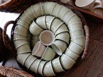 Artículos de cerámica de la loza foto de archivo libre de regalías