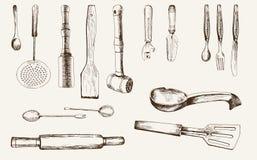 Artículos de cocina Foto de archivo libre de regalías
