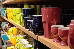 Artículos de cocina colorido Foto de archivo libre de regalías