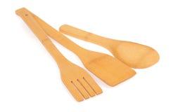 Artículos de cocina de madera Fotografía de archivo