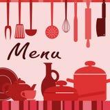 Artículos de cocina y proceso de cocinar Fotografía de archivo