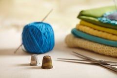Artículos de costura. Fotos de archivo libres de regalías