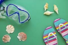 Artículos de la natación de la playa Fotos de archivo