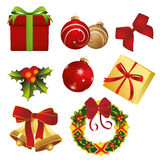 Artículos de la Navidad Foto de archivo
