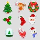 Artículos de la Navidad Ilustración del Vector