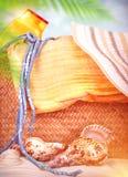 Artículos de la playa Imagen de archivo libre de regalías