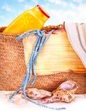 Artículos de la playa Foto de archivo libre de regalías
