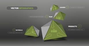 Artículos de menú Sitio Web abstractos 3d Foto de archivo