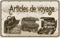 Artículos de voyage Imágenes de archivo libres de regalías