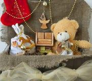 Artículos decorativos por vacaciones de invierno Imagen de archivo libre de regalías