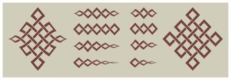 Artículos decorativos y formas geométricas de los ornamentos Fotos de archivo