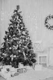 Artículos del Año Nuevo y de la Navidad Foto de archivo libre de regalías