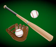 Artículos del béisbol Fotografía de archivo libre de regalías