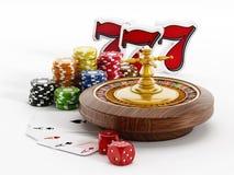 Artículos del casino Imagenes de archivo