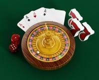 Artículos del casino Fotos de archivo libres de regalías