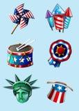 Artículos del Día de la Independencia Imagen de archivo libre de regalías